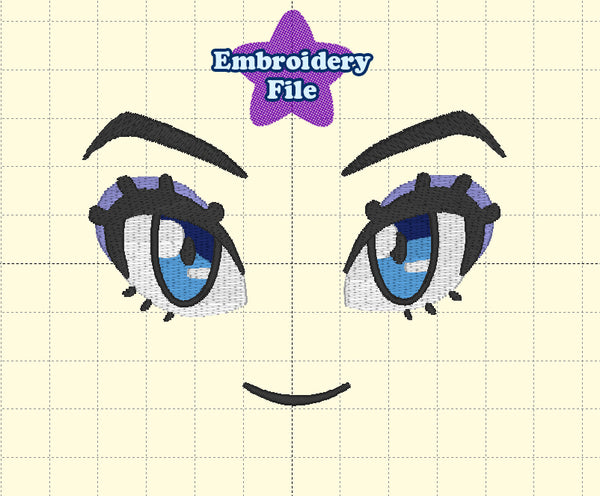 Anime Face Embroidery File