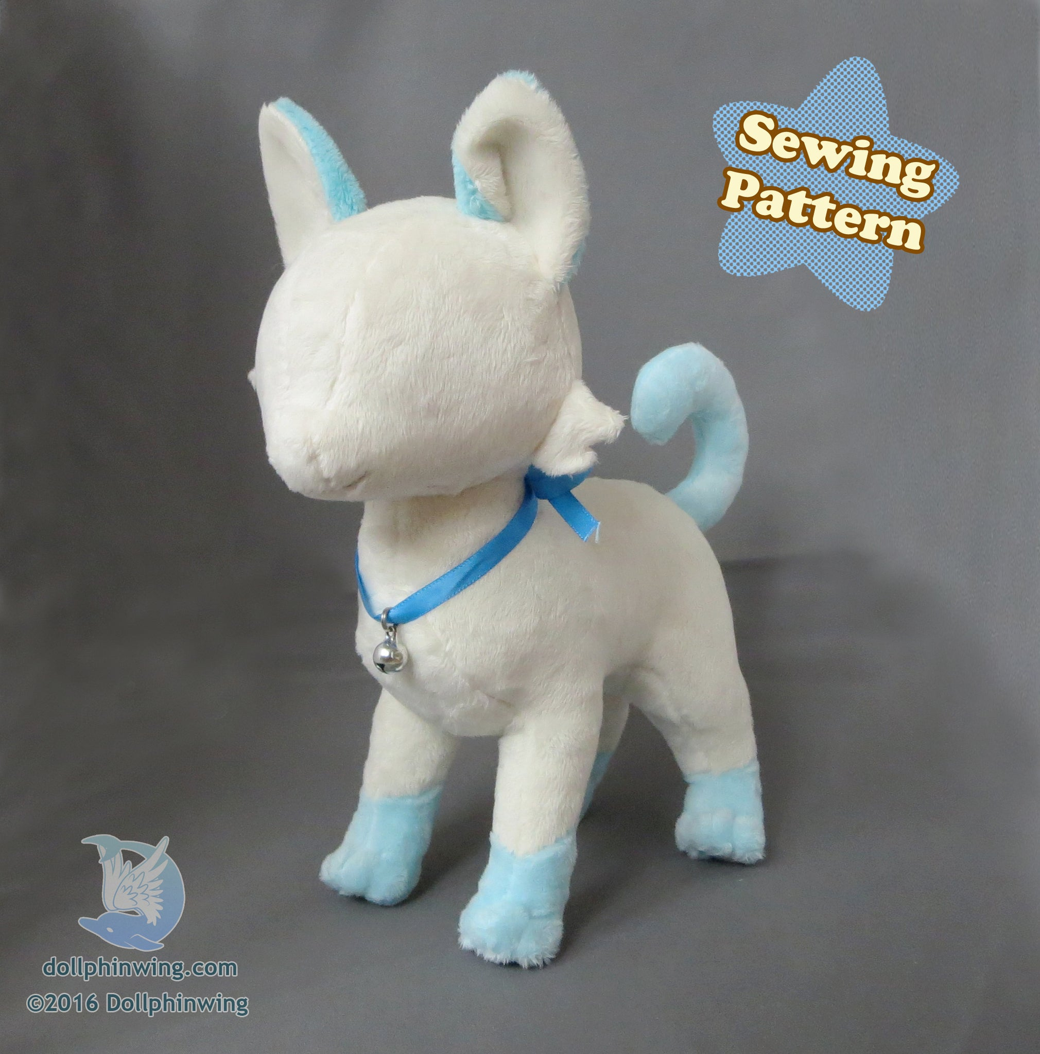 Standing Cat Plush Sewing Pattern PDF