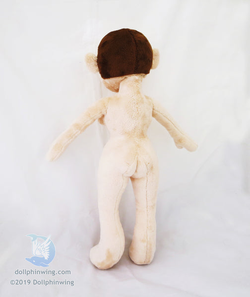 pin up doll fabric figure woman plush doll