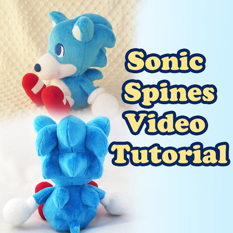 Sonic Spines Video Tutorial sewing pattern and tutorial plushie_pattern, Sewing_Pattern, sonic, sonic the hedgehog