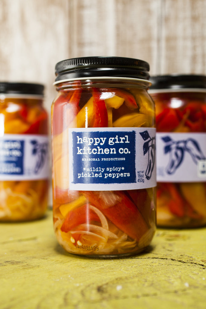 Mildly Spicy Pickled Peppers