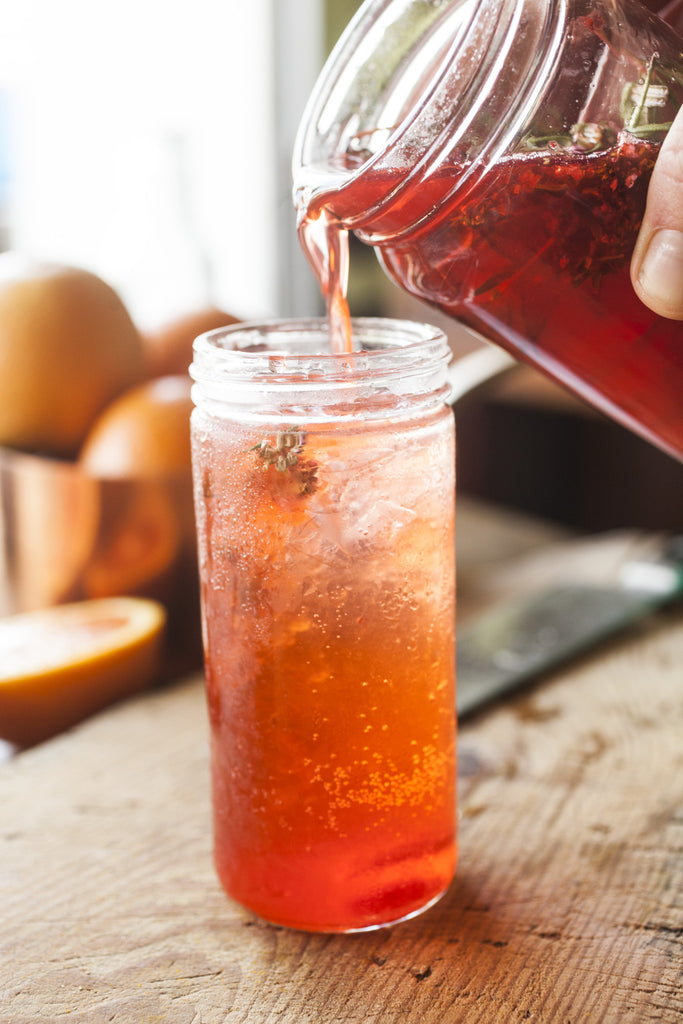 Strawberry Ginger Shrub