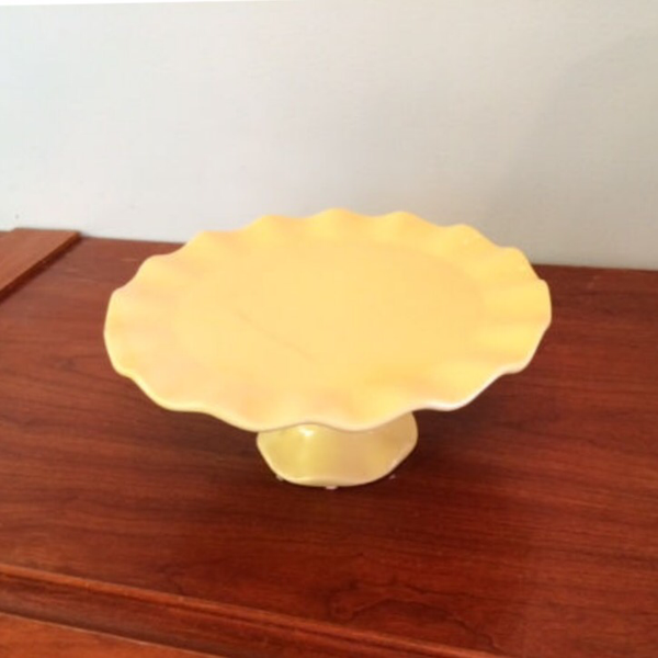 Yellow Ceramic Ruffled Edge 10.5""
