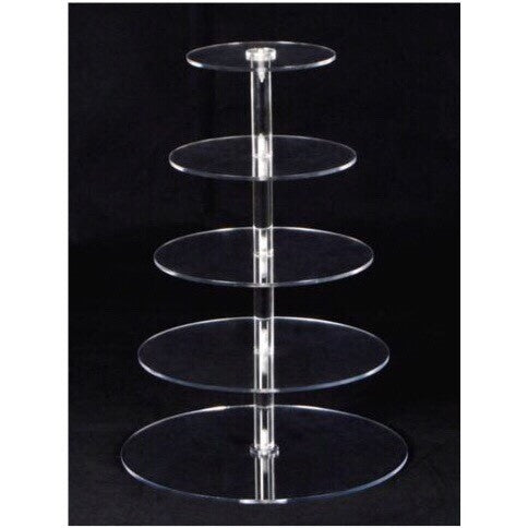 Clear Acrylic Stand Rental - 5 tier