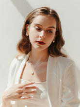 Load image into Gallery viewer, Amanda Necklace & Earrings Set (Freshwater Pearl)