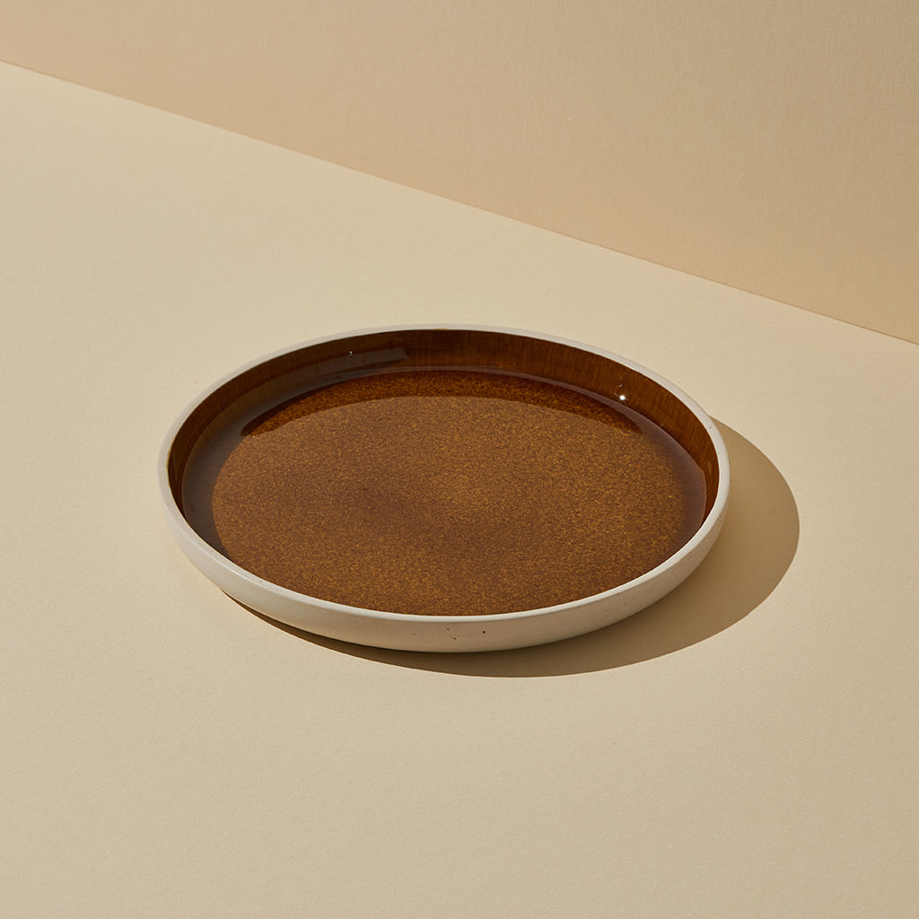 Burnt Sienna Glazed Dinner Plate