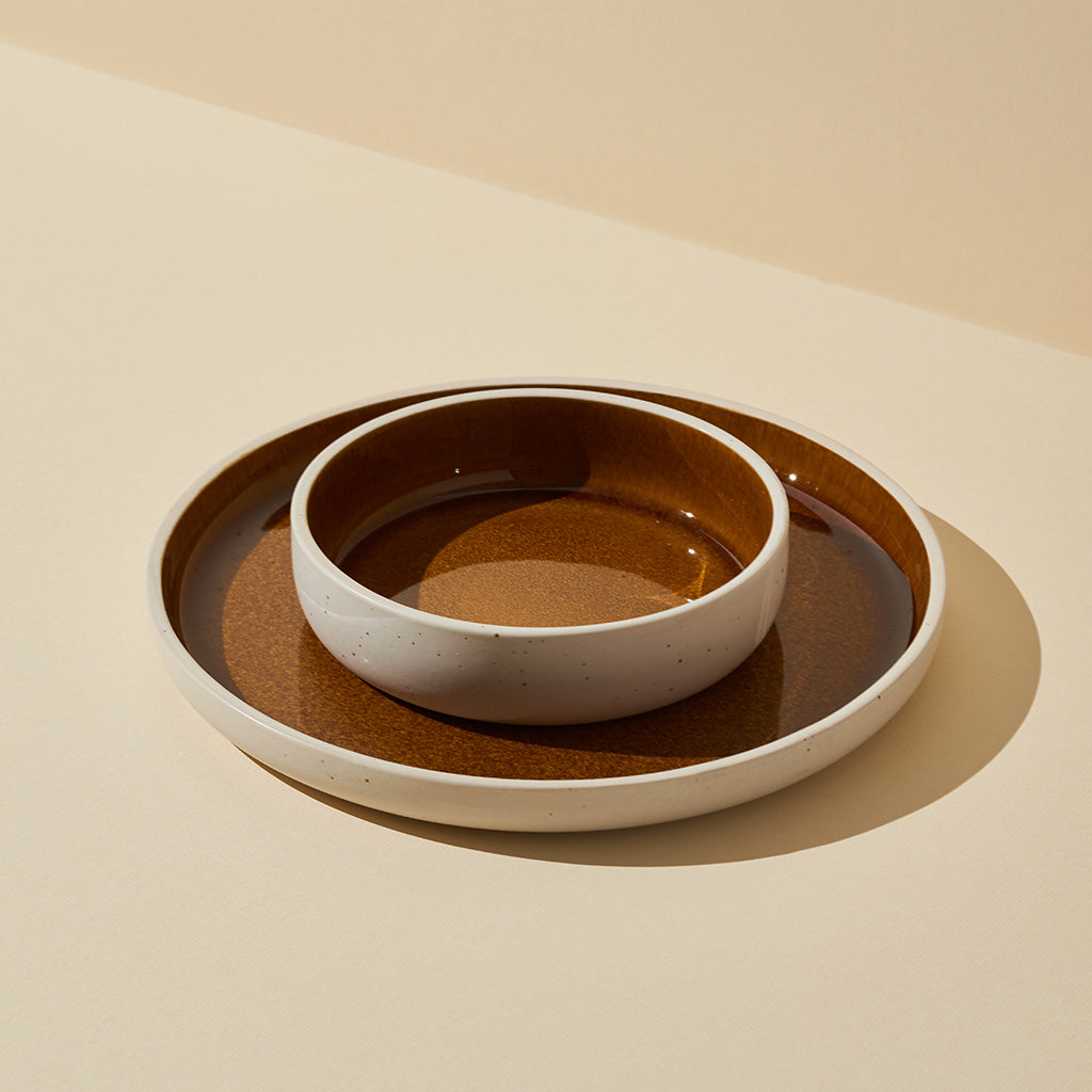 Burnt Sienna Glazed Dinnerware Set