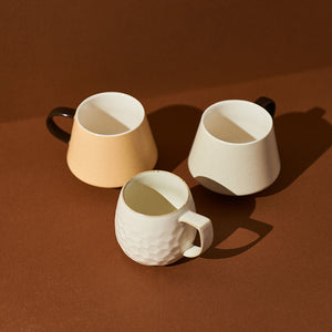 Speckled Wing-tip Handle Coffee Mug