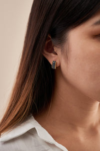 Ellie Earrings — Prussian Blue