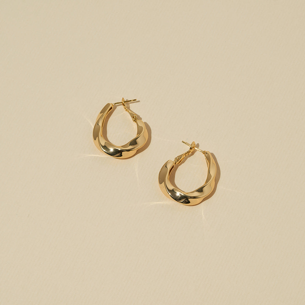 Harper Earrings – 18K Gold