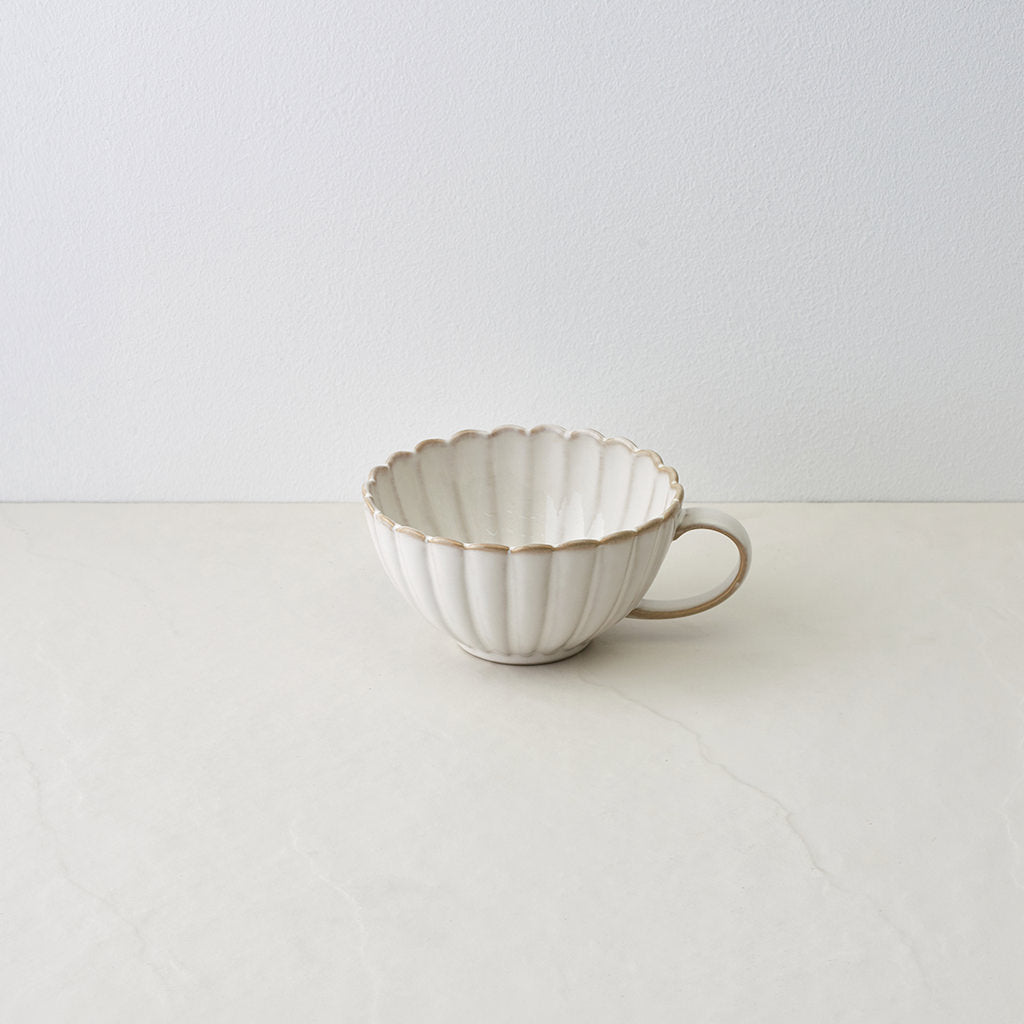 White Sand Scallop Mug