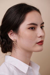 Tessa Earrings – Matte Gold