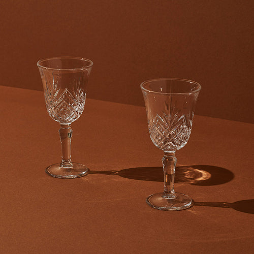 Vintage-style Wine Glass