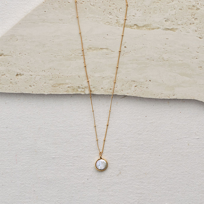 Amanda Necklace (Freshwater Pearl) — 18K Gold
