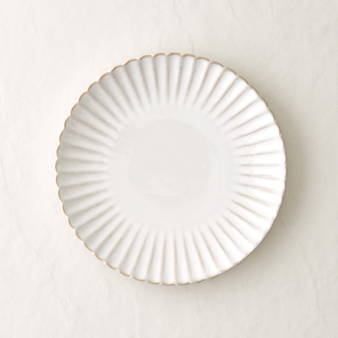 White Sand Scallop Dinner Plate