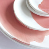 porcelain cloud plate – blush (salad plate)