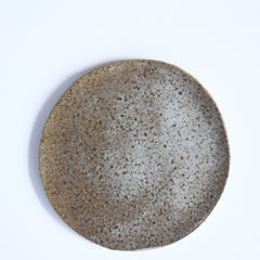 raku speckle plate – sea (salad plate)
