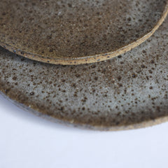 raku speckle plate – sea (bread plate)