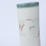 porcelain vase – sea green floral lines | 2