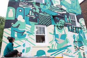New Mural transforms the Pewabic Courtyard