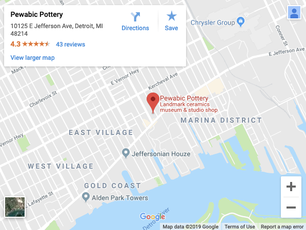 Plan Your Visit | Pewabic Pottery Detroit Insute Of Arts Map on