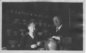 Pewabic co-founders Mary Chase Perry Stratton and Horace Caulkins in their Detroit studio.
