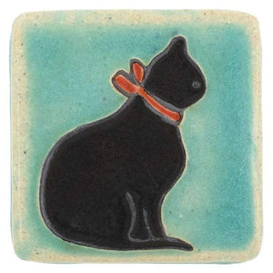 Ceramic 3x3 Handpainted Cat Tile