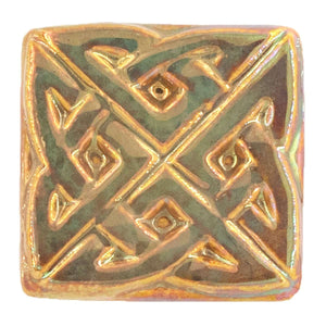 Ceramic Eternity Knot Tile, Iridescent