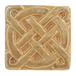Ceramic Journey Knot Tile, Iridescent