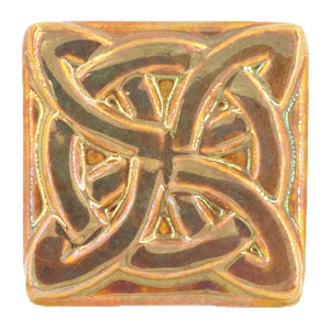 Ceramic Lover's Knot Tile, Iridescent