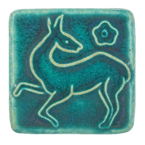 Ceramic Prancing Deer Tile