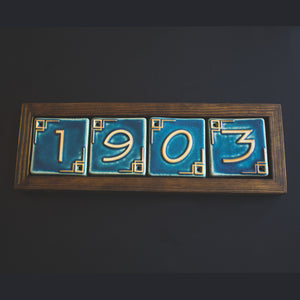 Ceramic 4 Digit Address Frame - Dark | Mutual Adoration