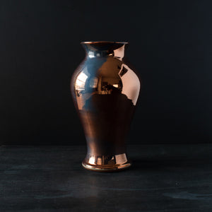 Ceramic Large Classic Vase | Copper Iridescent II