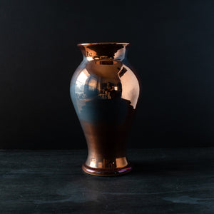 Ceramic Large Classic Vase | Copper Iridescent III