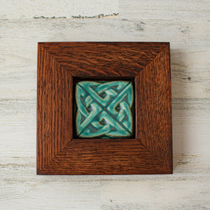 Ceramic Framed Eternity Knot Tile