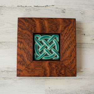 Ceramic Framed Journey Knot Tile