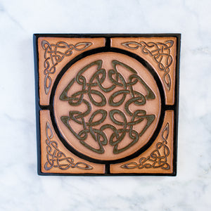 Ceramic Earthen Craft Pottery |6x6 Border Knots Tile Collection