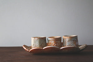 Ceramic Troy Bungart | Tray and Cup Set