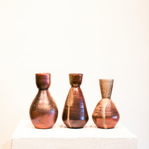 Ceramic Steven Kin | Three Medium Wood Fired Bottles