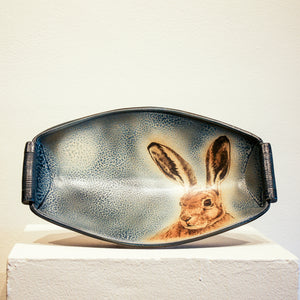 Ceramic Charlie Tefft | Tray with Rabbit Face