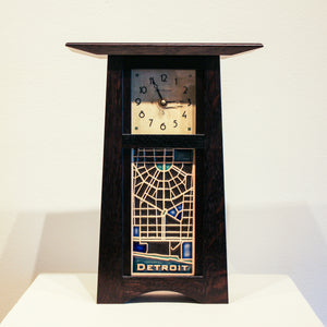Ceramic Craftsman Clock | 4 x 8 Detroit Map Tile