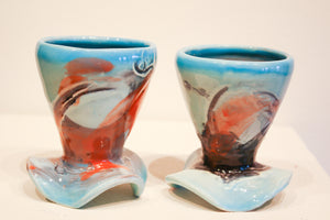 Ceramic Susanne Stephenson | Turquoise Footed Cup Set
