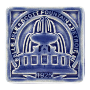 Ceramic Belle Isle Fountain Tile