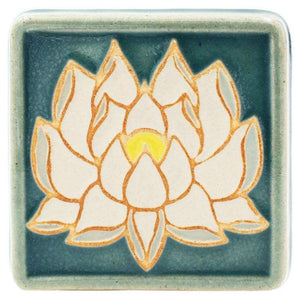 Ceramic 4x4 Handpainted Lotus Tile