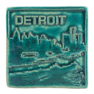 Ceramic Detroit Skyline Tile