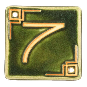 Ceramic Address Number 7 Tile