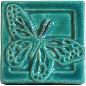 Ceramic Butterfly Tile