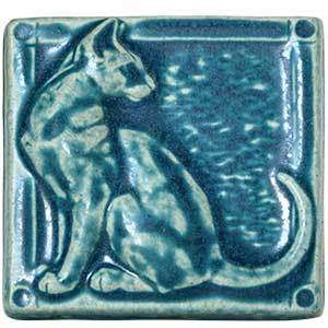 Ceramic 3D Cat Tile