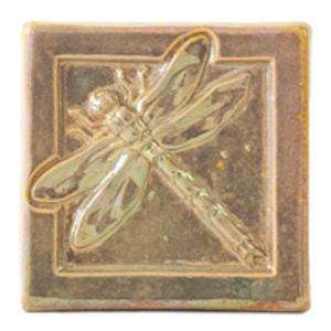 Ceramic 4x4 Iridescent Dragonfly Tile
