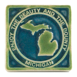 Ceramic Beauty & Bounty Michigan, Two-Tone 4x4